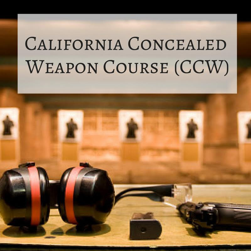 Firearms: CCW California (2 Day class)