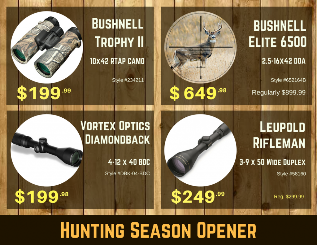 HUNTING SEASON OPENER - Pacific Outfitters
