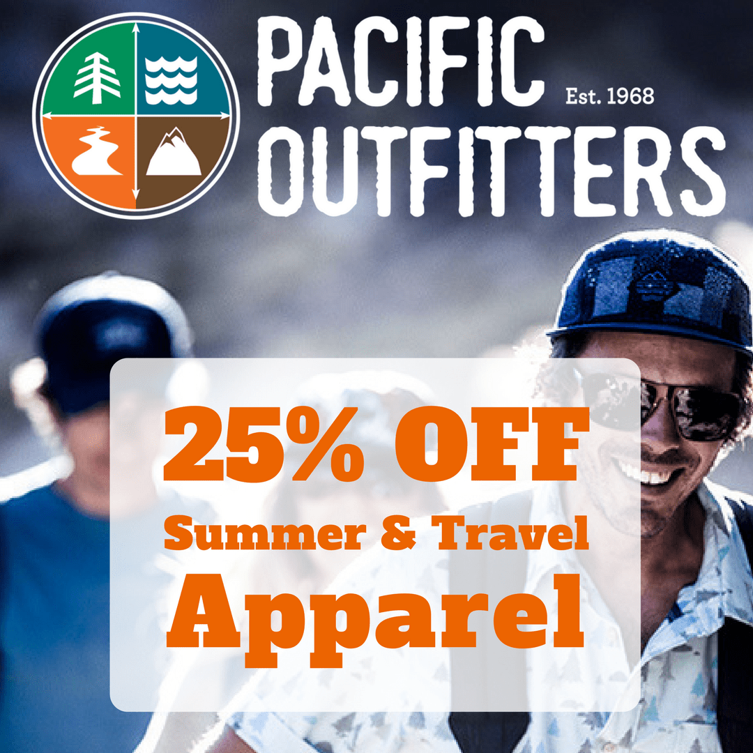 25% OFF SUMMER & TRAVEL APPAREL - Pacific Outfitters