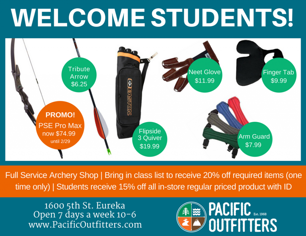 Student Discount - Pacific Outfitters