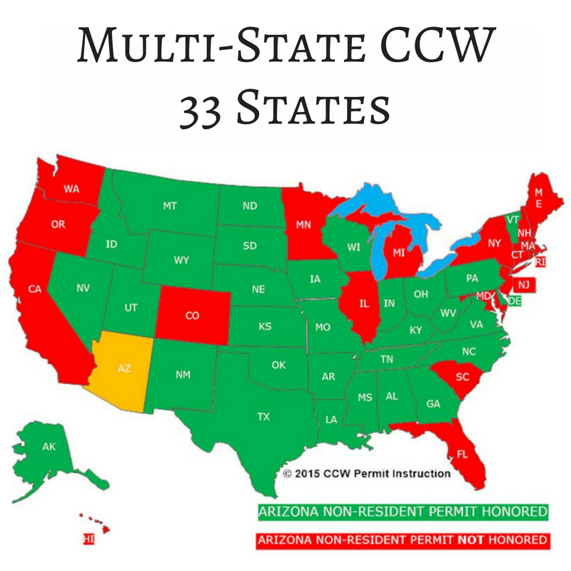 Firearms: Multi-State CCW Course (33 States) – 1 Session