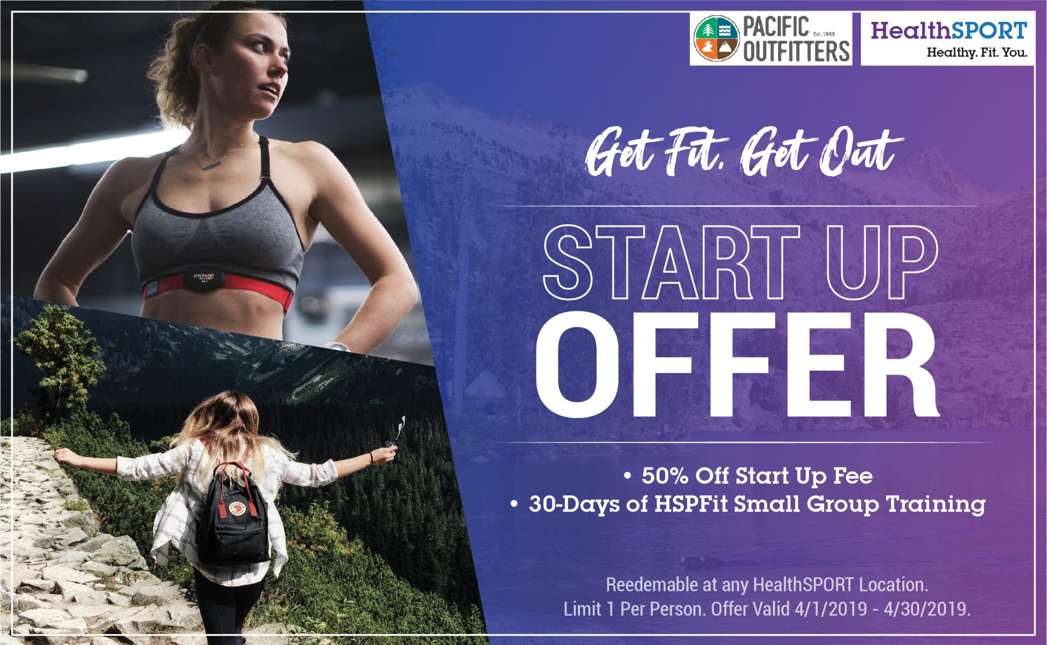 Pacific Outfitters & HealthSPORT #GetFitGetOut