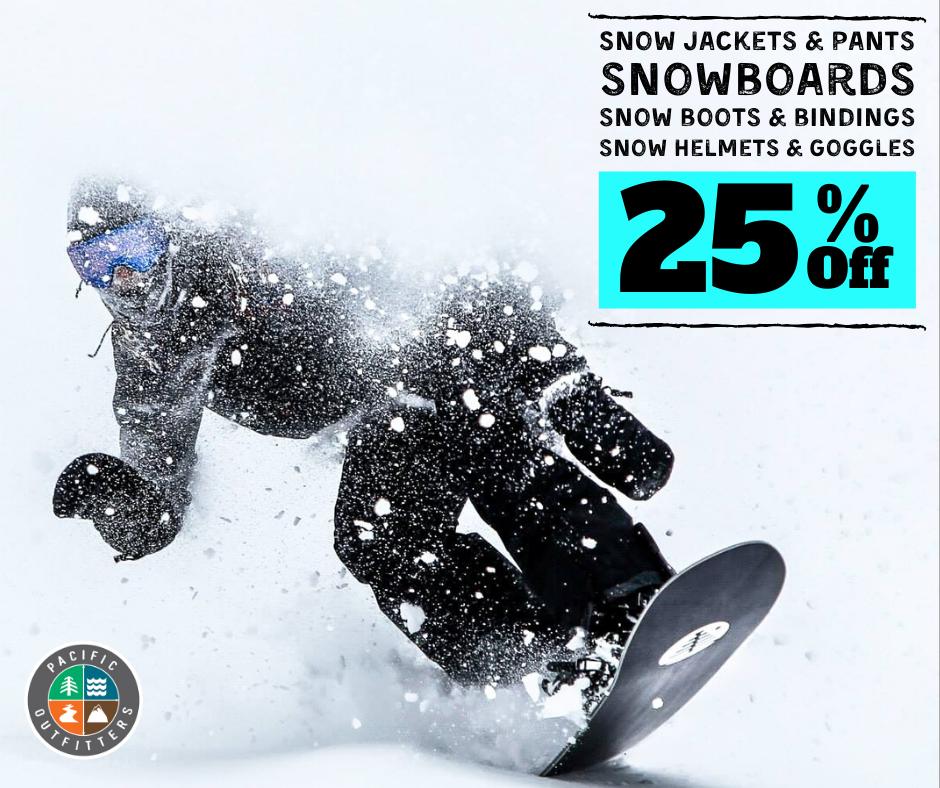 25% Off Snow Gear & Apparel